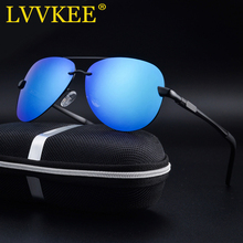 LVVKEE 2019 Brand Men 100% Polarized Aluminum Alloy Frame Sunglasses Fashion Men's Driving Sun Glasses For Women Shades Oculos