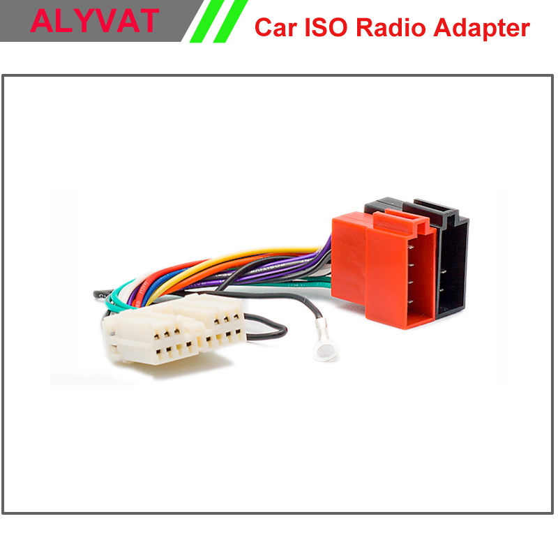 Car ISO Wiring Harness Stereo For Mitsubishi 1996 2006 Auto font b Radio b font Adapter