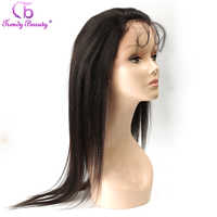 Trendy Beauty Peruvian Straight 360 Lace Frontal Human Hair 22''x4'' Full Lace 360 Frontal Closure With Baby Hair Non-remy