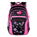 2017 Princess Children school bags for girls Butterfly printing backpack Waterproof kids shoulder book bag pack mochila 2 sizes