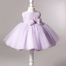 High Quality Lovely Purple Ball Gown Flower Girl Dress For Girls Birthday Pageant Party Dresses kids party dresses vestido longo