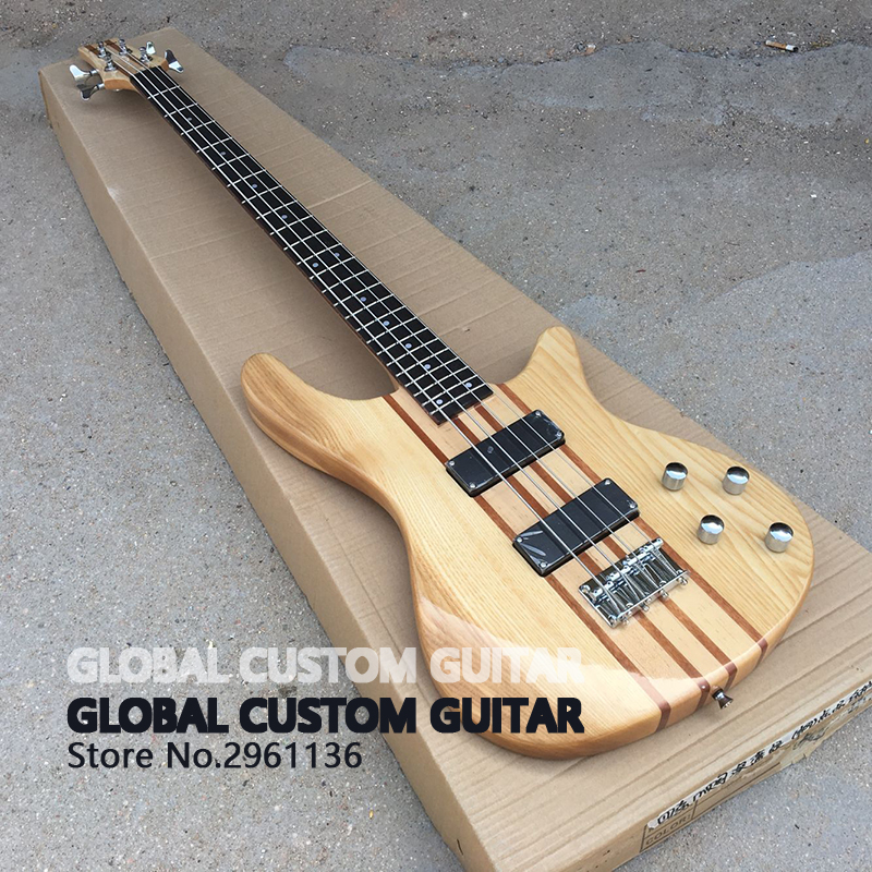 chinese electric guitars,ash whole body bass guitar,4 strings,High quality,Wholesale,Real photos,free shipping 2016 new light blue imitation old st electric guitar good body real guitar photos free shipping