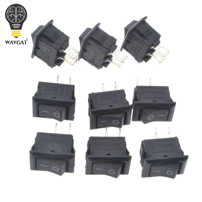 10pcs/lot 10*15mm SPST 2PIN ON/OFF G130 Boat Rocker Switch 3A/250V Car Dash Dashboard Truck RV ATV Home10pcs/lot 10*15mm SPST 2PIN ON/OFF G130 Boat Rocker Switch 3A/250V Car Dash Dashboard Truck RV ATV Home