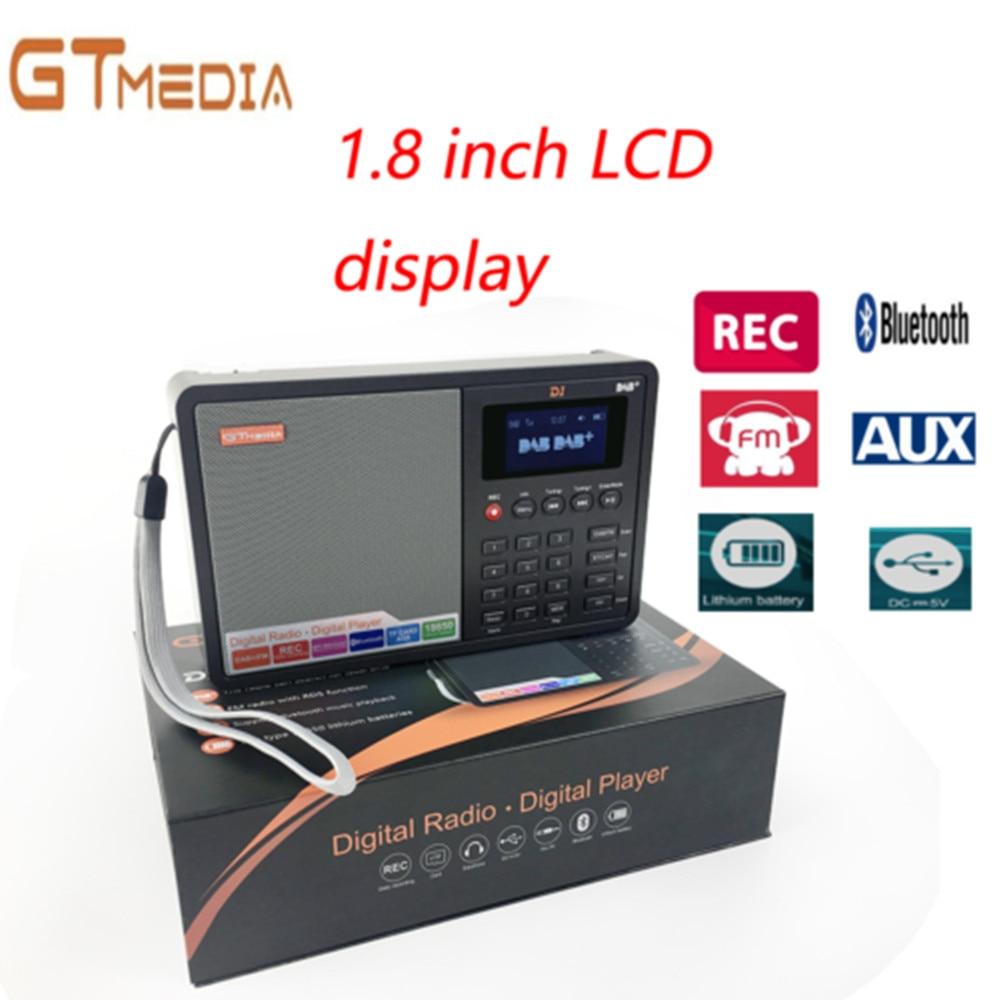 Unterhaltungselektronik Radio Wiederaufladbare Battey Gtmedia D1 Digital Radio Fm Stereo/rds Multi Band Radio Mit 1,8 lcd Display Wecker 18650 Lithium