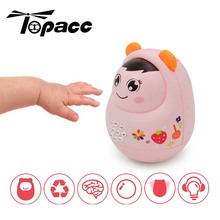 Baby Music Light Learning Tumbler Rattles Multi-functional Doll Toys Story Machine Children Baby Early Educational Mobiles Toy цена и фото