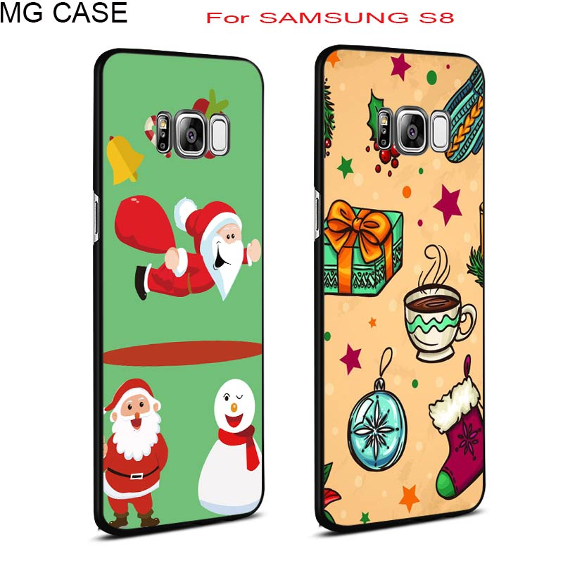 С Рождеством Христовым чехол для сотового телефона samsung Galaxy Note8 S9 S9PLUS S8 S8plus Happy Новый год S9 S9PLUS Телефон Чехол основа сумка