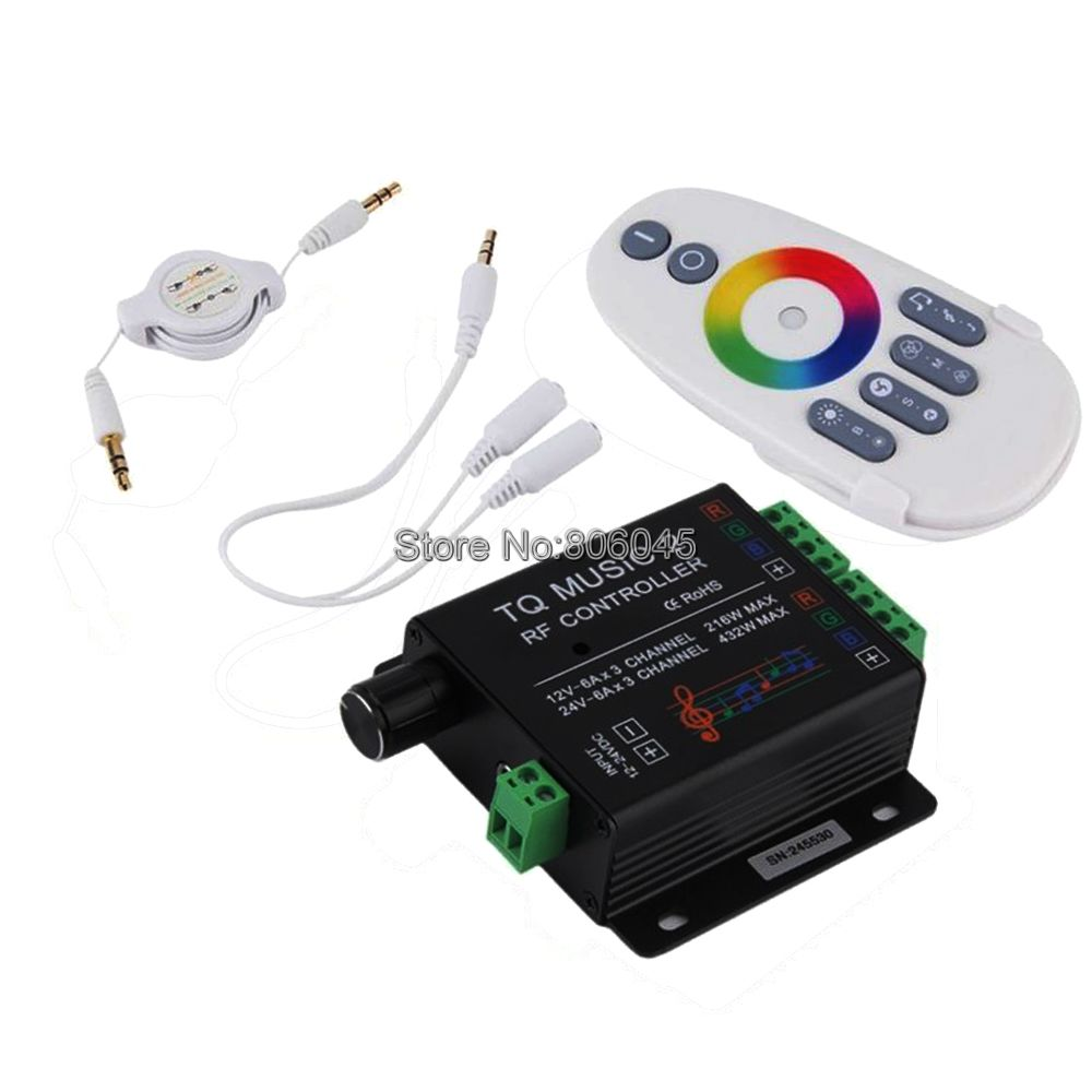 Controller Led Rgb Us 22 09 15 Off Dc12v 24v 18a 6x3a Tq Music2 Controller Led Rgb Music Sound Sensitivity Controller With Rf Wireless Remote For Rgb Led Strip In Rgb