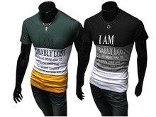 2017 New  cotton man t-shirt geometric long sleeved t shirt o-neck fashion casual print Spring and summer M-3XL