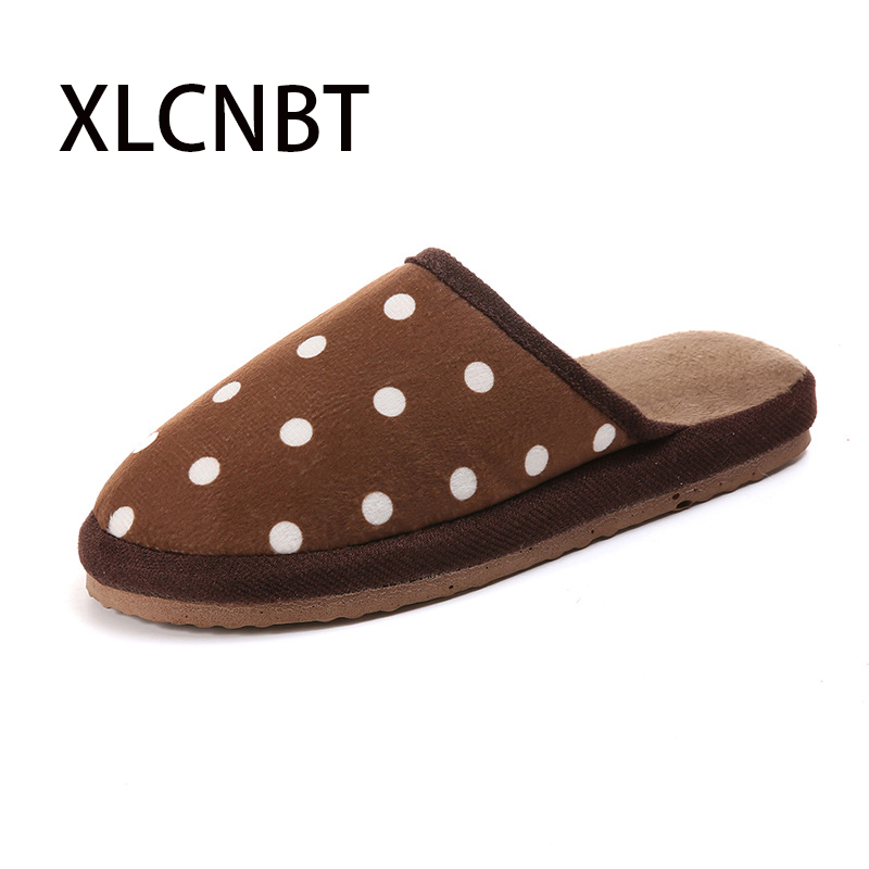 2018 autumn winter home indoor couple cotton slippers men women non-slip thick cotton shoes striped suede slippers free size все цены