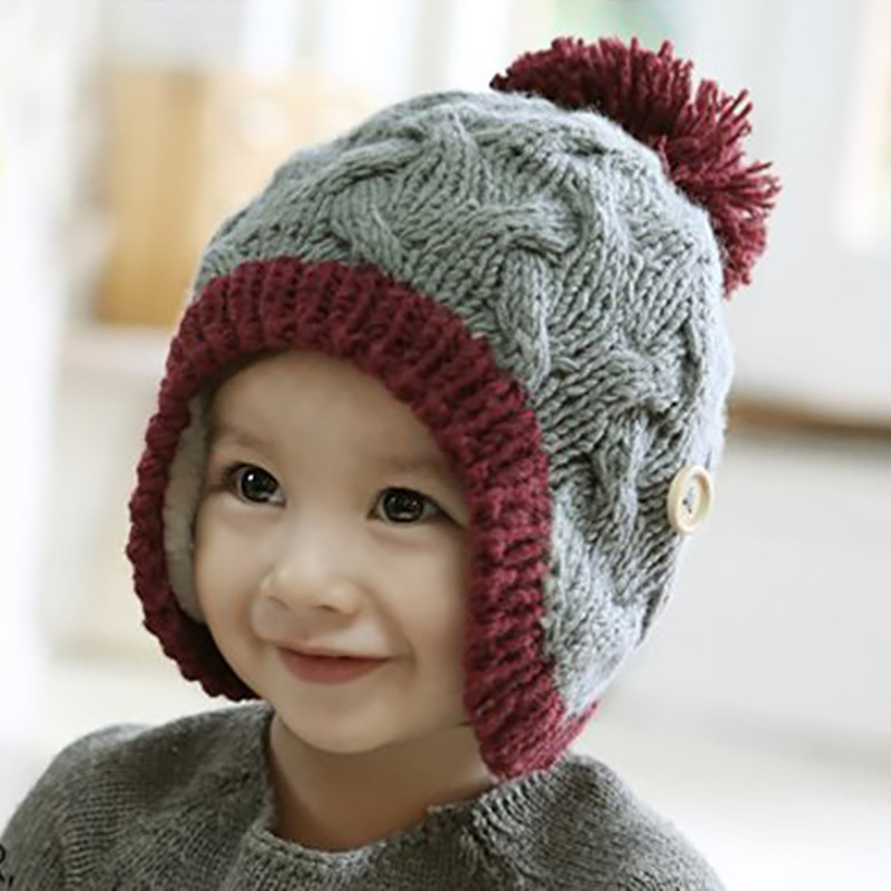 Baby Warm Thick Handmade Knitted Beanies Hat Newborn Photography Hats Caps Accessories