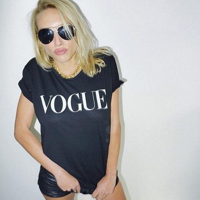 Marca T Modo Donne Stampata Di Maglietta Delle Vogue Shirt nv0mN8w