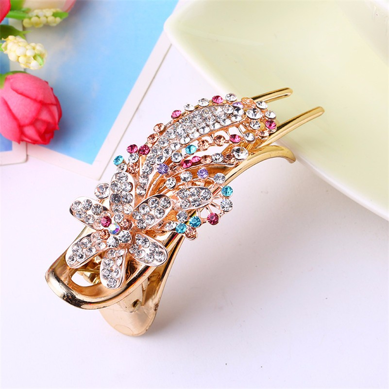 HTB1UXQYNXXXXXb2aXXXq6xXFXXXM Gorgeous Rhinestone Crystal Studded Flower Hair Clip Ornament For Women