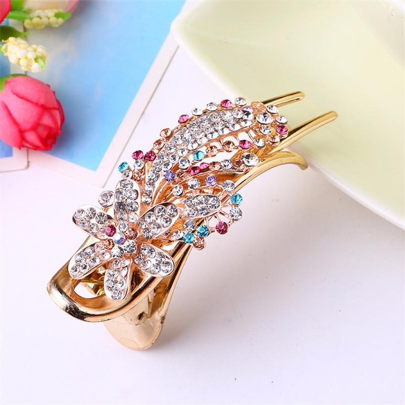 HTB1UXQYNXXXXXb2aXXXq6xXFXXXM Gorgeous Rhinestone Crystal Studded Flower Hair Clip Ornament For Women