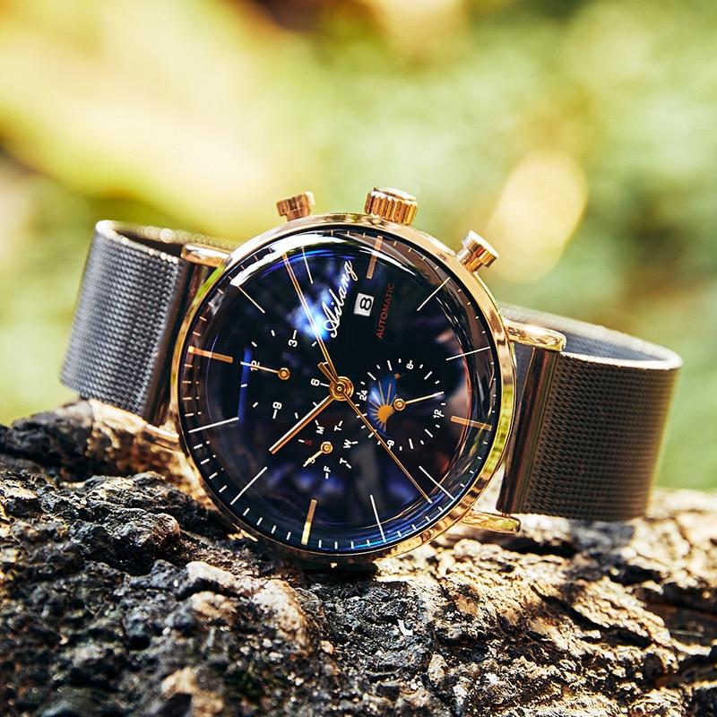 AILANG تصميم العلامة التجارية التلقائي السويسري ساعة الرجال الميكانيكية غواص الساعات الرجال ساعة الديزل SSS الحد الأدنى الذكور 2019 بساطتها-في الساعات الميكانيكية من الساعات على