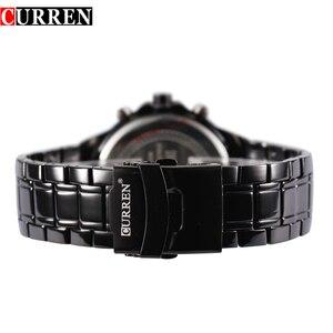 Image 4 - CURREN Fashion Full Steel Quartz Men Watch Analog Sports Male Wristwatch Classic Black&White Horloges Mannens Saat Reloj Hombre