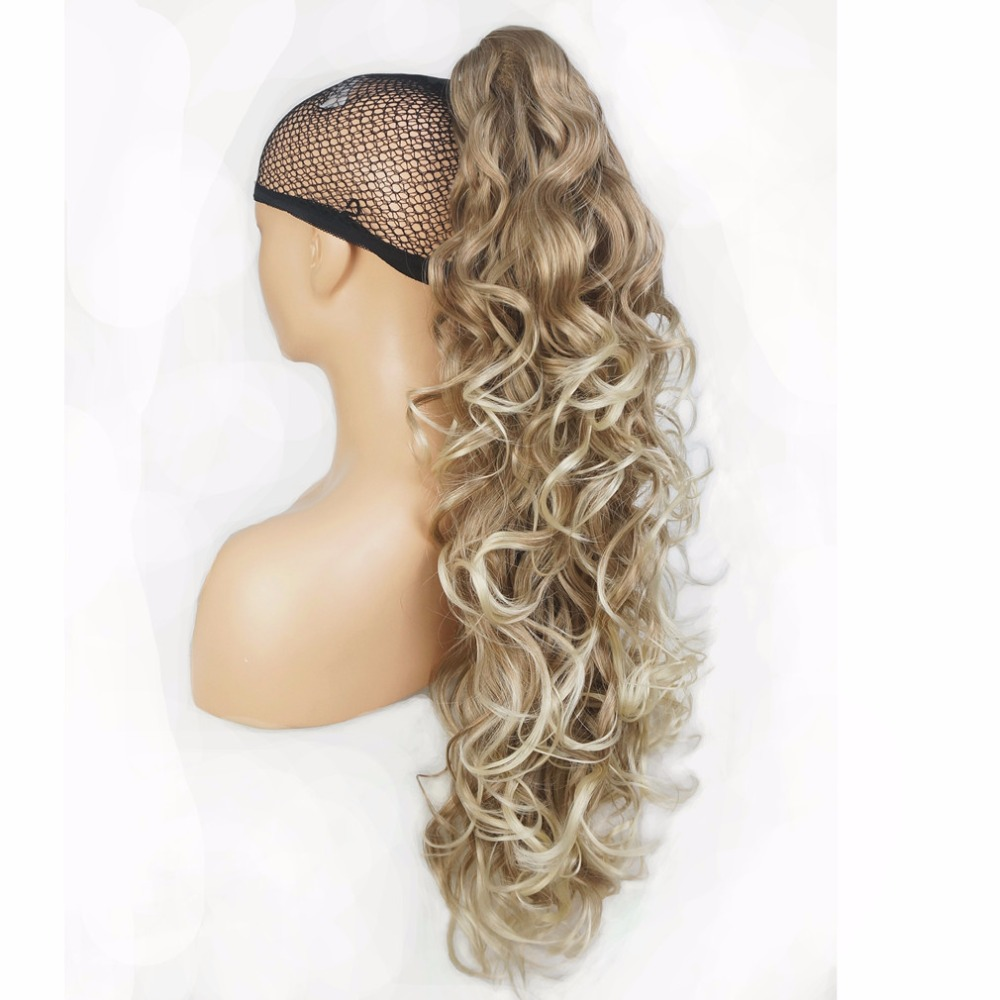 StrongBeauty Long Curly Claw Clip Ponytail Hairpiece Hair Extensions 32 inch Synthetic Heat Resistant Fiber