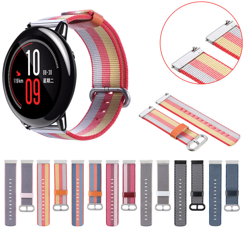 Fashion Nylon Watch Band Strap With Buckle Connector For Xiaomi Huami Amazfit H7TY0