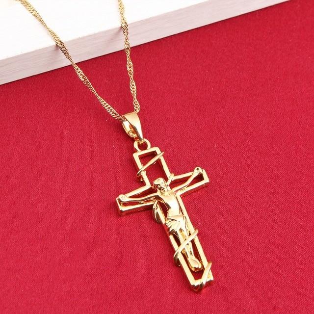 Cross necklace women men jewelry wholesale trendy inri crucifix cross necklace women men jewelry wholesale trendy inri crucifix jesus cross pendant aloadofball Choice Image