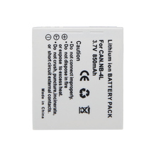 New Digital Camera Battery NB-4L NB4L Battery Pack For Canon IXUS 60 65 80 75 100 I20 110 115 120 130 IS 117 220 225 230 255 HS