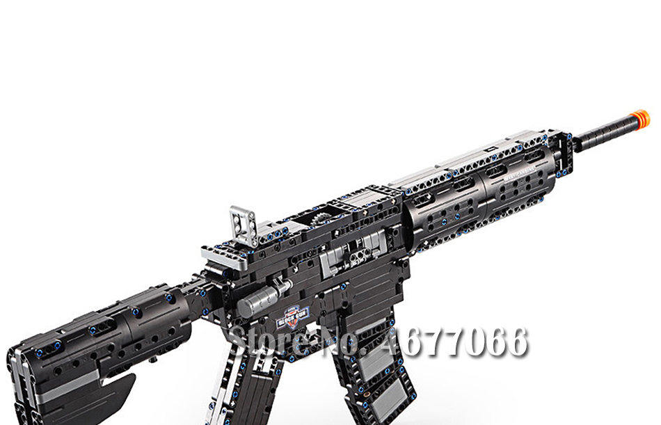 Legoed gun model building blocks p90 toy gun toy brick ak47 toy gun weapon legoed technic bricks lepin gun toys for boy 129