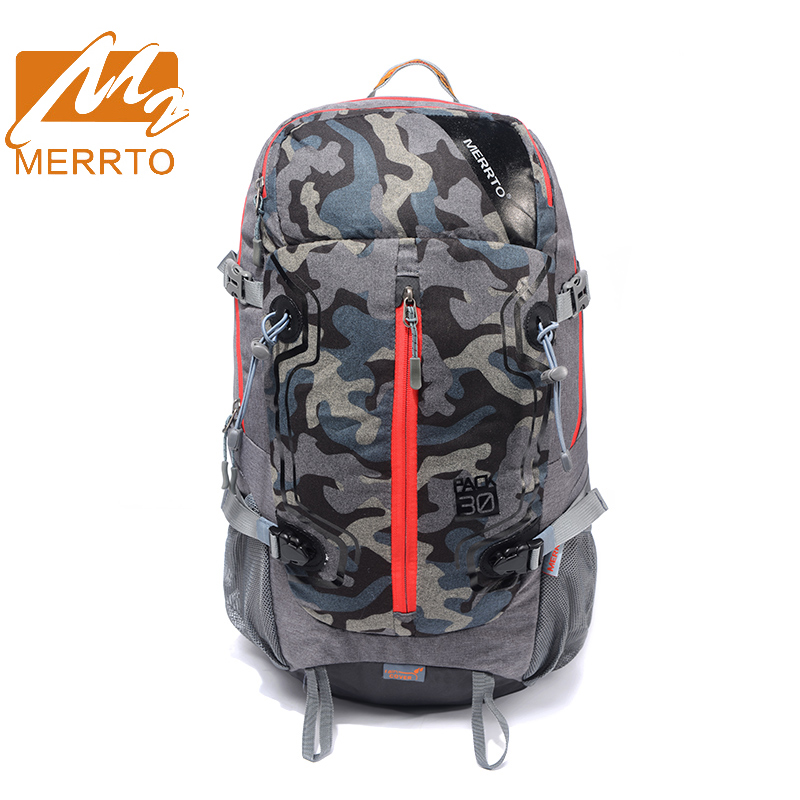 2017 Merrto Outdoor Hiking Backpack For Women&Men Waterproof Light Weight Sports Bags 30L Travel Backpacks Free Shipping 19832 high quality 2016 new fashion men s backpacks outdoor sports women backpack women school bags men hiking bag men s travel bags