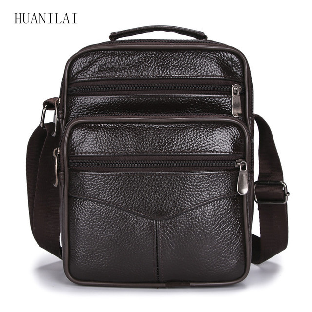 HUANILAI Men Bags Messenger Bags  Fashion Business Shoulder Bags For Men Genuine Leather Bags High Capacity Handbags TY006