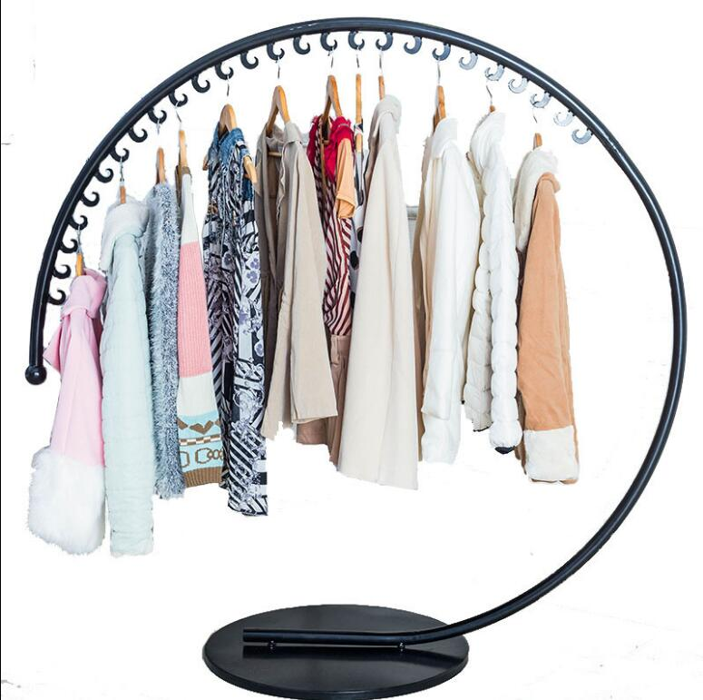 Tie yi cloakroom floor hanging clothes rack simple fashion clothing store display rack