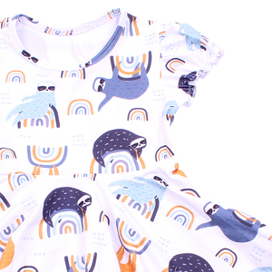 Image 2 - فستان هالوين 2019 قصير الاكمام للفتيات ، ملبوسات الاطفال ، الوان فاتحة ، خريف/شتاء ، فروكس الحليب والحرير ، فستان توريل للأطفال الصغار