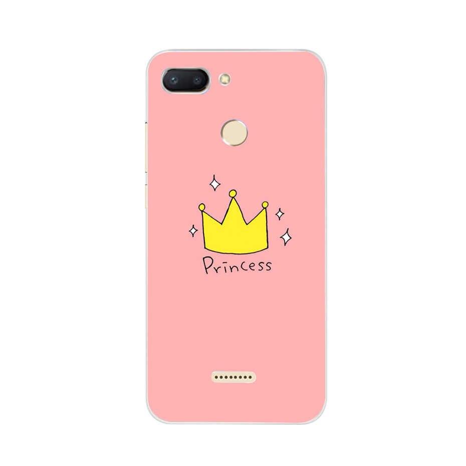 Untuk Xiaomi Redmi 6 Pocophone F1 4A 5A 6A Cover Lembut Silicone Pattern Back Cover Di untuk Tritone Redmi6 Xiaomi redmi 6 Phone Case