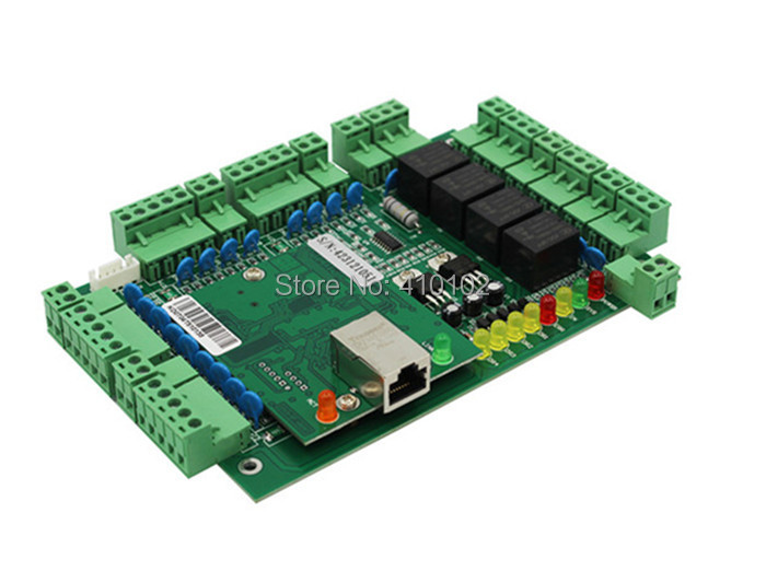 ФОТО New Four Door 4 Readers Professional TCP/IP Network Access Control Board Green Board for Door Access Control System T04