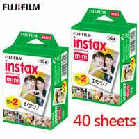 20pcs / box fujifilm instax mini 8 9 film 40 sheets for camera Instant mini 7s 25 50s 90 Photo Paper White Edge 3 inch wide film