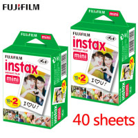 20pcs / box fujifilm instax mini 8 9 film 40 sheets for camera Instant mini 7s 25 50s 90 Photo Paper White Edge 3 inch wide film