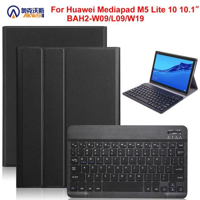 הליכונים מגן כיסוי מקרה עבור Huawei Mediapad M5 לייט 10 BAH2 W09/L09/W19 10.1 אינץ מקרה + נשלף bluetooth מקלדת