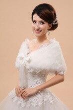 Outerwear Noiva xale vestido de casamento Formais Acessórios Vestido de Noiva Capa Outono Inverno Jaqueta de Venda Quente