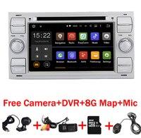 Бесплатная доставка 2 DIN Android 7.1 автомобиль DVD GPS для Ford Focus Kuga транзит Wi Fi 3G GPS Bluetooth Радио RDS SD рулевое колесо ctrol