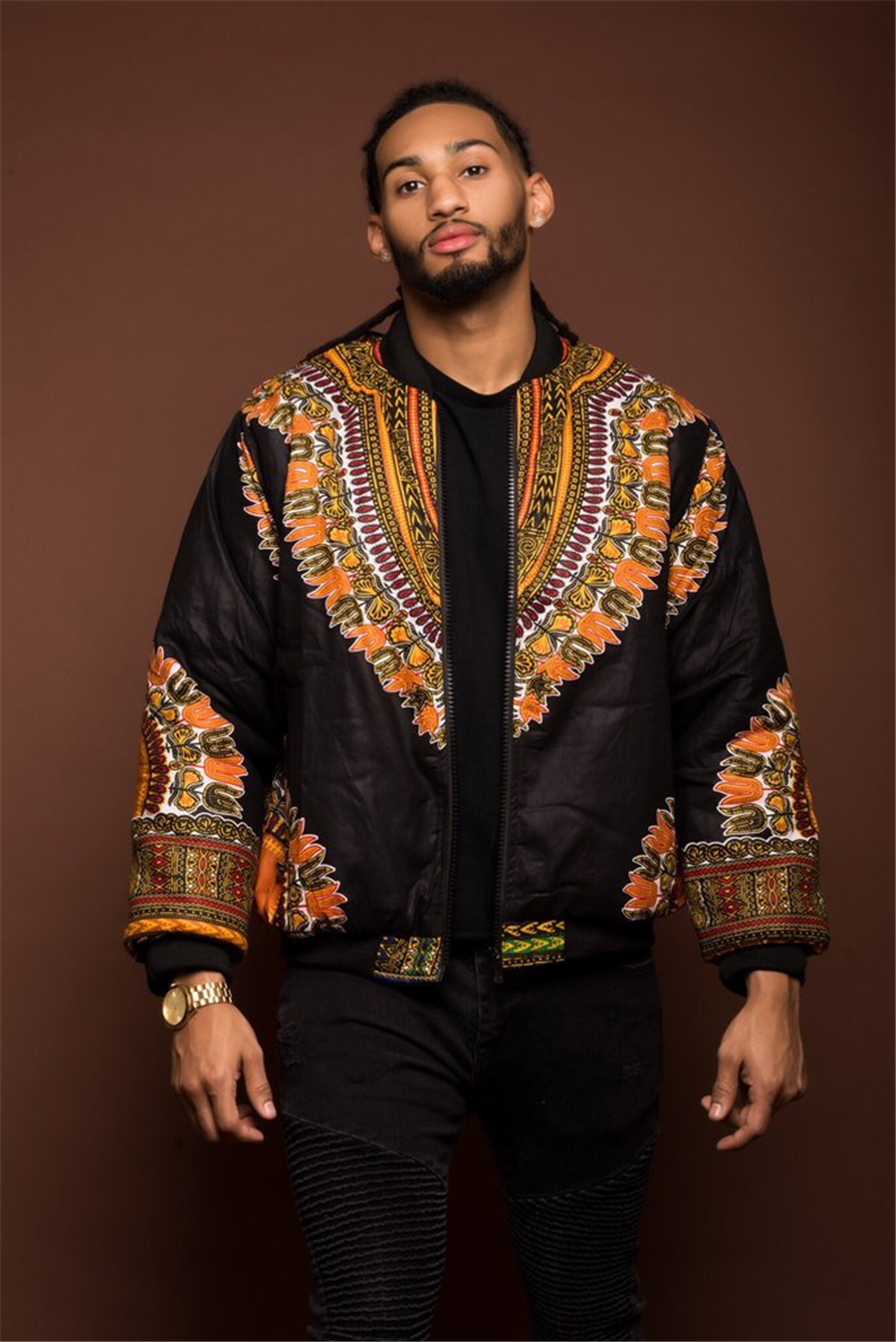 GuyuEra Hot Sale Africa Men\`s Dashiki Style Couple Wear Vintage Ethnic Men\`s Dashiki Jacket African Print Jacket Plus size S-XL (18)