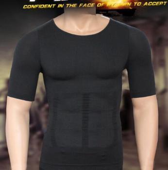 Men's Compression T-Shirt Compression Body Building Shirt for Men Summer Slim Dry Quick Under Shirt 1