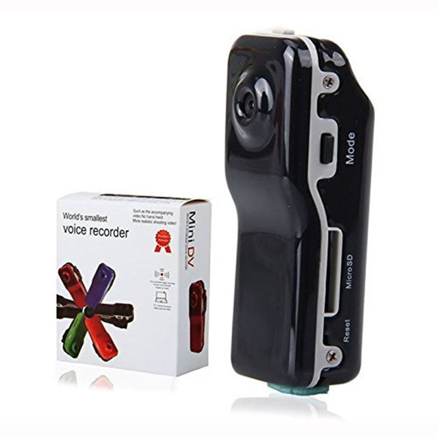 Бесплатная Доставка Mini DV Видеокамеры DVR Видеокамера 16 ГБ HD Мотоцикл Камеры Audio Recorder