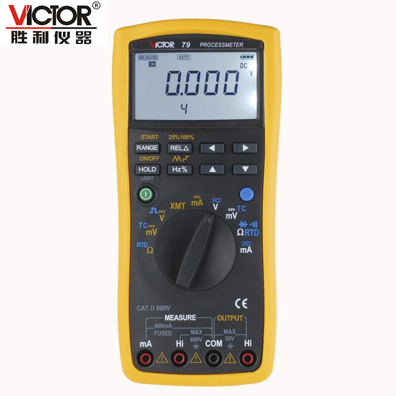 VICTOR 79 VC79 Process Multimeter Digital Multimeter Handheld Autoranging Large LCD Electronic Instrument handheld large screen multimeter lcd display accurate detection digital multimeter victor 88b