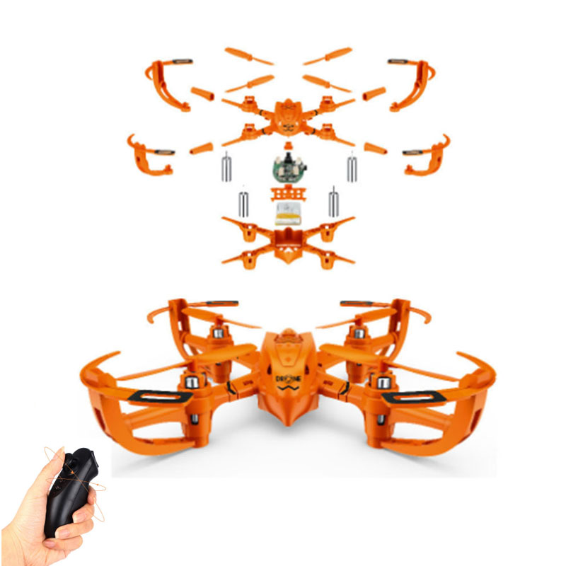 Mini hélicoptère RC quadrirotor petit Drone télécommande jouet Kit non assemblé pour hélicoptère RC enfants adultes cadeau