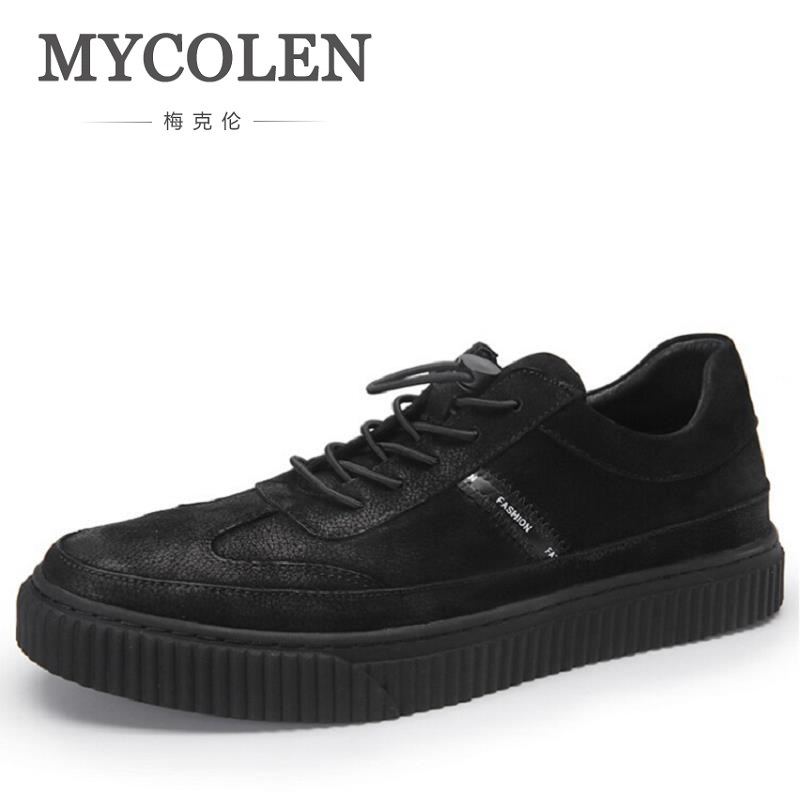 MYCOLEN New Luxury Fashion Black Casual Shoes Men Classic Breathable Shoes Comfort Soft Walking Driving Shoes Men Trainers branded men s penny loafes casual men s full grain leather emboss crocodile boat shoes slip on breathable moccasin driving shoes