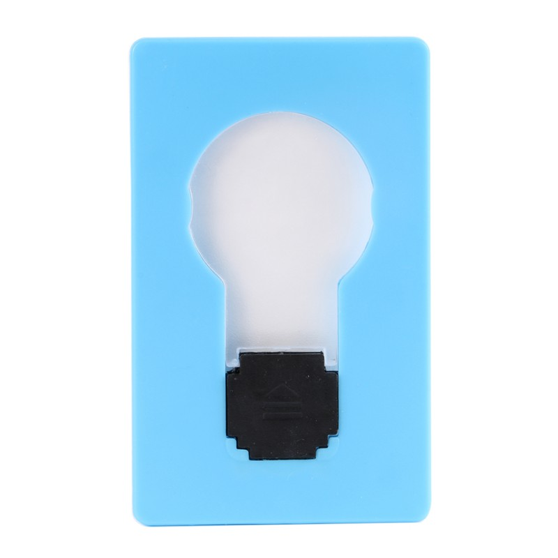 Hot Novelty Lighting Portable Mini LED Card Pocket Light Bulb Lamp Credit Card Size Fashion Style