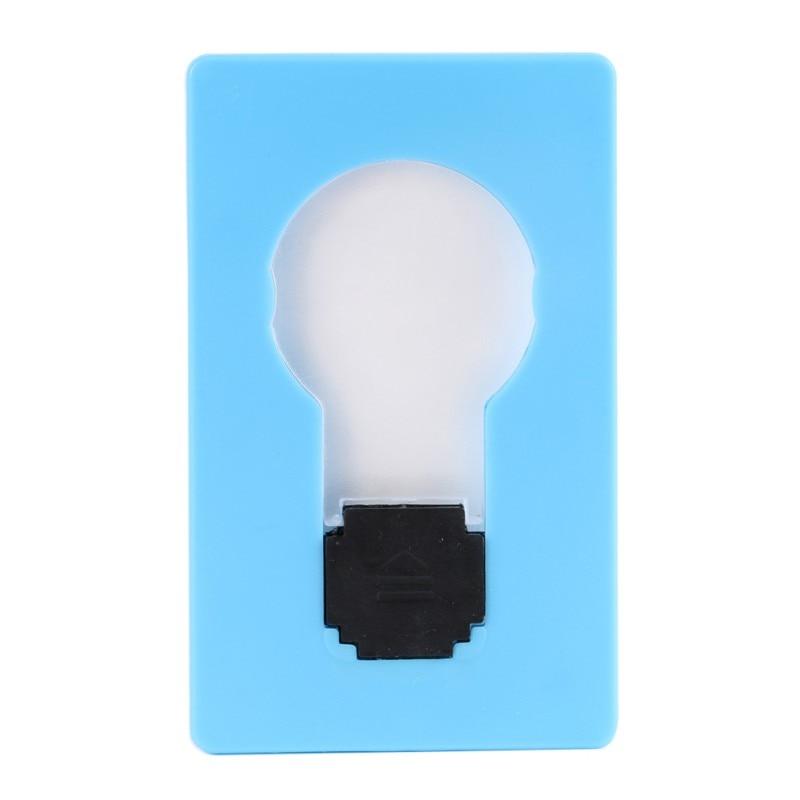 Hot Novelty Lighting Portable Mini LED Card Pocket Light Bulb Lamp Credit Card Size Fashion Style