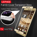 LEPHEE HUAWEI P9 Lite Plus 3D Curved Tempered Glass Screen Protector Full COVER Carbon Fiber Soft Edge Film for HUAWEI P9 Plus