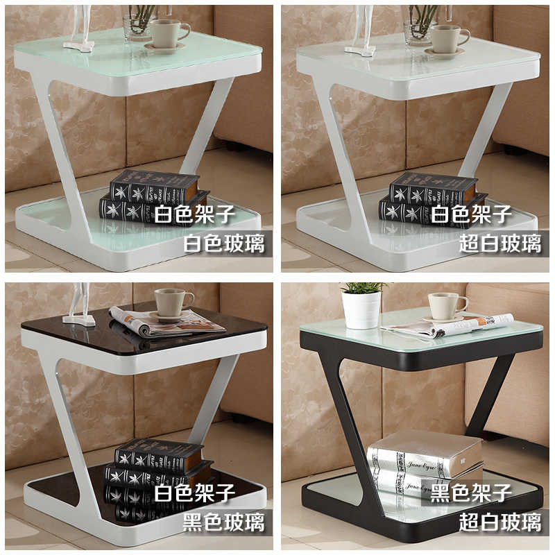 Louis fashion Coffee Tables Toughened glass living room creative small side tea corner several sofas cabinet