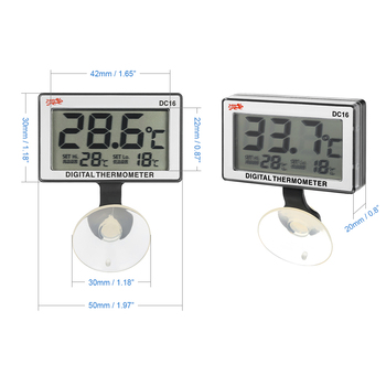 YUGE Aquarium Heater with Thermometer Alarm Submersible Water Temperature  Meter Temperature Controller Kit Set Fish Tank Heating