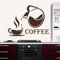 T040030 Kitchen Coffee Wall stickersl Decal Sticker Home Decor Restraunt Pub vinyl art stickers Coffee Cups mural