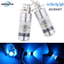 A Pair Ice Blue Fog lamps Car Driving Lights 20LED Bulbs H3 H4 H7 Car Fog Lights Vehicle LED Fog Lamp(China)