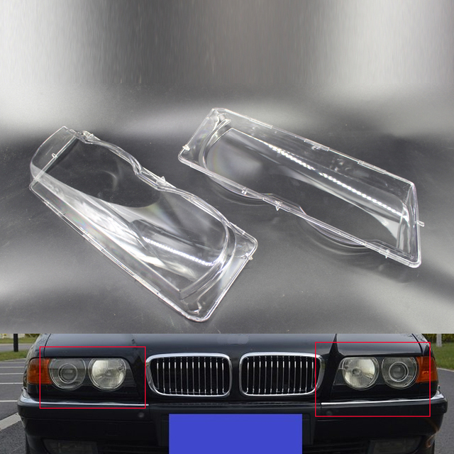 Car Headlight Lens Cover Shell Fit for BMW 7 Series E38 Facelift 1999-2001