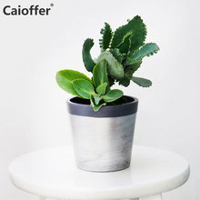 Caioffer Northern Europe Modern Mini Ceramic Pots Planters For Succulent Plants Flower Bonsai Combination Of Geometry And Lines